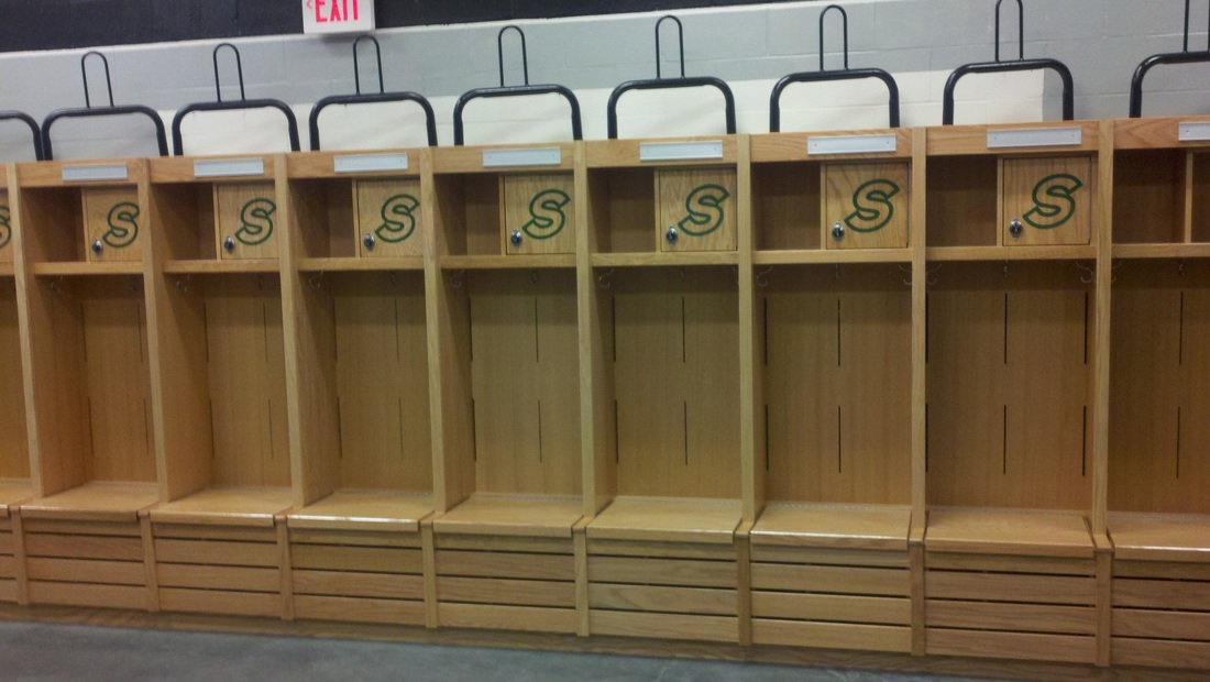 Locker room accessories furniture